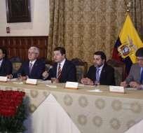 Ejecutivo se pronunció tras prisión preventiva contra expresidente Rafael Correa. Foto: API