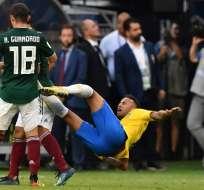 Neymar tuvo una cuestionada participación en su encuentro contra México. Foto: AFP