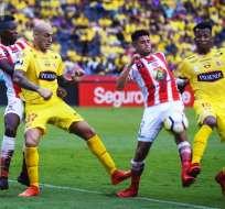 GUAYAQUIL, Ecuador.- Barcelona ganó por la mínima diferencia a Técnico Universitario. Foto: API - Marcos Pin