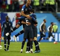 Los 'galos' vencieron 1-0 a Bélgica con gol de Samuel Umtiti. Foto: Odd ANDERSEN / AFP
