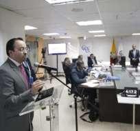 QUITO, Ecuador.- Christian Cruz defendió su gestión en audiencia pública ante el Consejo de Participación. Foto: API