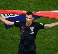 El delantero hizo el gol que clasificó a Croacia a la final del Mundial. Foto: Jewel SAMAD / AFP