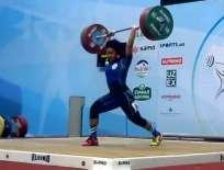 La levantadora de pesas ecuatoriana levantó un peso de 255 kg en la categoría 75 kg. Foto: Tomada de @DeporteEc