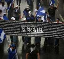 Los opositores reclaman justicia, elecciones adelantadas o la renuncia de Ortega. Foto: AFP