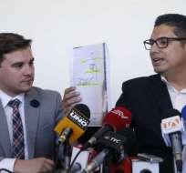 "ECUADOR.- Fernando Balda reveló datos de los documentos desclasificados del operativo ""Guayacán"". Foto: API"