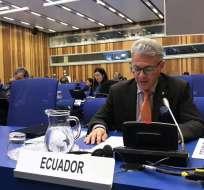 ECUADOR.- Carlos Játiva se desempeñaba como embajador en Austria antes de la designación en la OEA. Foto: Archivo