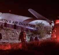 Un pasajero de la aeronave grabó la caída de la nave en la que viajaba. Foto: Archivo AFP