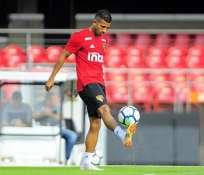 El delantero nacional hizo el pase para el gol del triunfo sobre Flamengo. Foto: Tomada de @joaorojasoficial