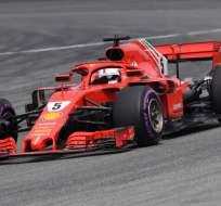 HOCKENHEIM, Alemania.- Vettel logró la 55ª pole de su carrera. Foto: AFP