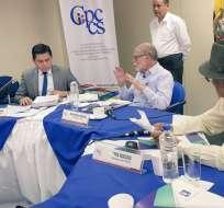 Iñigo Salvador Crespo encabezaba la terna que remitió el presidente Moreno.  Foto: CPCCS-T