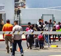 """Polémicas separaciones comenzaron en mayo por política de """"cero tolerancia"""". Foto: EFE"""