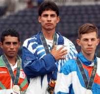 Jefferson Pérez en los Juegos Olímpicos de Atlanta en 1996.