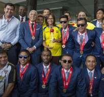 Varios deportistas recibieron la medalla Dr. Vicente Rocafuerte al mérito deportivo. Foto: Tomada de Flickr Asamblea Nacional