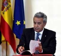 Rafael Correa tiene derecho a pedir asilo en Bélgica, aseguró Moreno.
