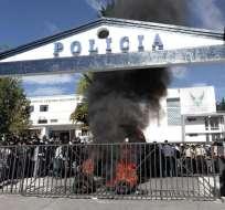 El 30 de septiembre de 2010 agentes de la Policía protagonizaron una revuelta en Quito. Foto: Archivo/EFE.