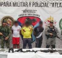 El asalto a los insurgentes ocurrió en el municipio de Tumaco, en la frontera con Ecuador. Foto: Cortesía.