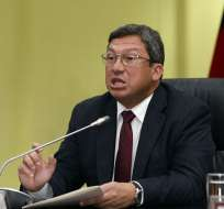 César Navas en una rueda de prensa en abril de este año. Foto: Archivo/API.