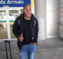 QUITO, Ecuador.- Julio Angulo llegó a la ciudad capital este 30 de julio del 2018.