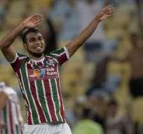 RIO DE JANEIRO, Brasil.- Junior Sornoza festeja luego de anotar un gol olímpico en el Maracaná. Foto: AFP