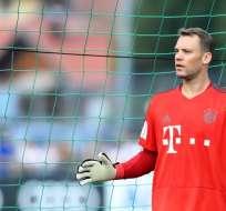 ROTTACH-EGERN, Alemania.- El portero del Bayern Múnich durante un entrenamiento con el club alemán. Foto: AFP