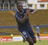 El goleador de Universidad Católica, Jhon Jairo Cifuente anotó un gol de penal. Foto: API