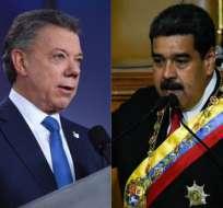 COLOMBIA.- El mandatario colombiano le aclaró a Maduro que el sábado estaba bautizando a su nieta. Collage: Ecuavisa