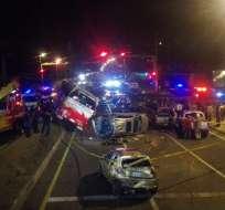 Los heridos fueron trasladados al Hospital Básico de Machachi. Foto: Twitter