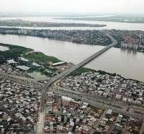 La policía indicó que los involucrados fueron capturados gracias a cámaras de seguridad. -Foto: Vista aérea de los tres cantones