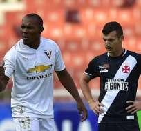Los 'albos' ganaron en el partido de ida 3-1 disputado en la ciudad de Quito. Foto: Conmebol