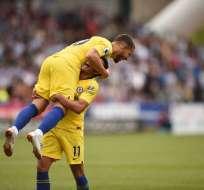 El equipo 'blue' ganó 3-0 al Huddersfield en el debut del entrenador Maurizio Sarri. Foto: AFP