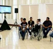 Mandatario participó en Guayaquil de un diálogo con jóvenes y adultos con discapacidades. Foto: Flickr Presidencia