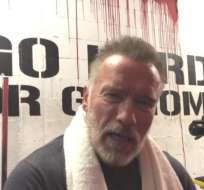 Schwarzenegger publicó un video felicitando a Ali.