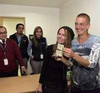 Pudieron inscribir legalmente en Ecuador a sus dos hijos con los apellidos de ambas. Foto: AFP