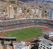 El estadio Hernando Siles de la ciudad de La Paz es el principal escenario deportivo de Bolivia. Foto: La Razón