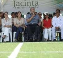 Moreno inauguró este viernes fase 1C Jacinta Sandiford en el parque. Foto: Secom