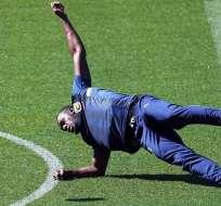 GOSFORD, Australia.- El exvelocista entrenó por alrededor de 45 minutos. Foto: AFP