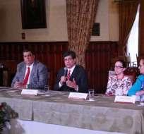 """QUITO, Ecuador.- El canciller afirmó que el Gobierno del Ecuador """"mantiene una posición de principios"""". Foto: API."""
