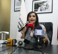 "QUITO, Ecuador.- Rosana Alvarado al dimitir al Ministerio: ""creo que tengo que facilitar esta transición"". Foto: API"