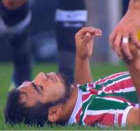RIO DE JANEIRO, Brasil.- La caída de Junior Sornoza asustó a la hinchada que acudió al Maracaná.