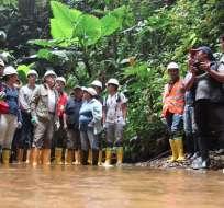 Investigación determinará si aparición de sedimentos en localidad se debe a minería. Foto: Contraloría.