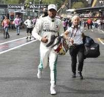 El piloto británico logró la pole 78 de su carrera. Foto: JOHN THYS / AFP