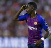 Ousmane Dembélé anotó el único gol del partido. Foto: Benjamin CREMEL / AFP
