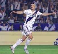 El delantero sueco lleva 16 goles en la MLS. Foto: Tomada de @LAGalaxy