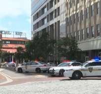 JACKSONVILLE, EE.UU.- Un único sospechoso falleció en el sitio del incidente. Foto: Tomado de CNN.