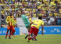 Los 'toreros' empataron 0-0 con Aucas en el estadio Gonzalo Pozo Ripalda.. Foto: API