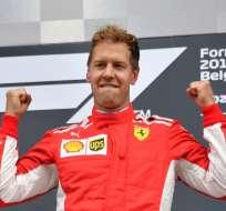 El alemán recortó la distancia con Hamilton a 18 puntos. Foto: EMMANUEL DUNAND / AFP