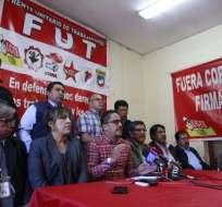FUT rechaza plan de ajuste económico que promueve el gobierno de Moreno. Foto: API