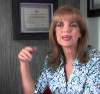 GUAYAQUIL, Ecuador.- Vallejo se ha desempeñado como ministra y parlamentaria andina. Foto: Captura Youtube.