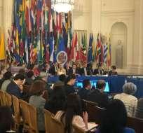 EE.UU.- La OEA se reunirá el próximo 5 de septiembre para revisar la crisis migratoria de Venezuela. Foto: Twitter