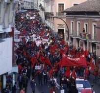 Manifestantes partieron desde la Caja del Seguro, en el centro de la capital. Foto: API